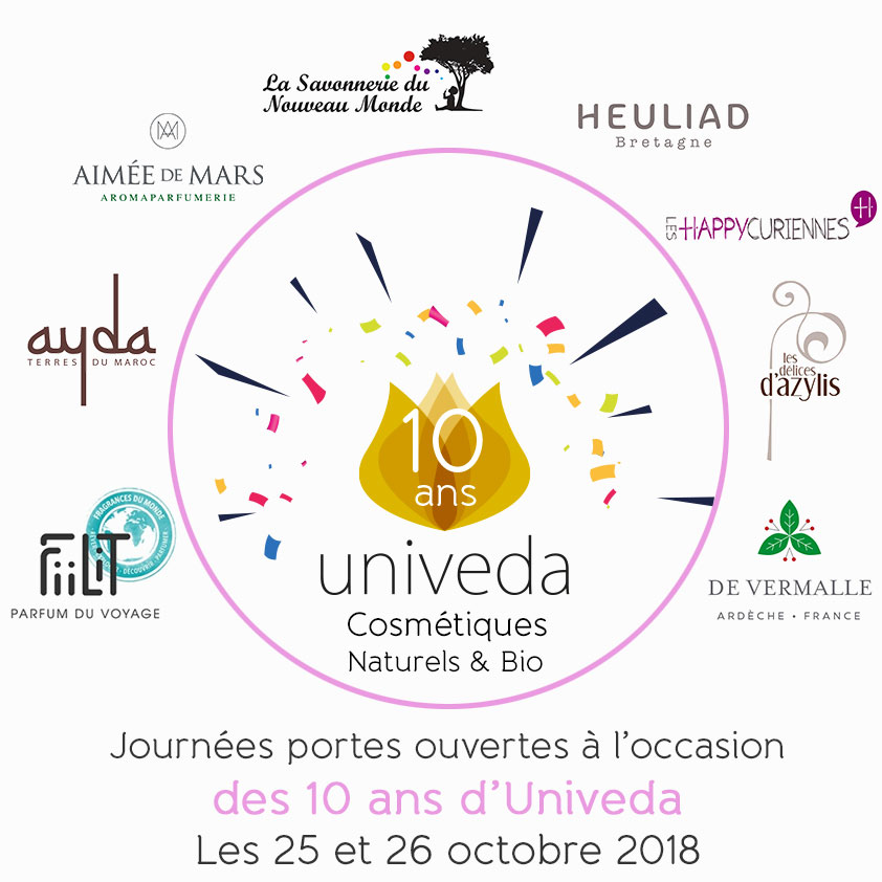 Read more about the article 2 jours de festivité chez Univeda avec 8 créateurs de cosmétiques naturels !